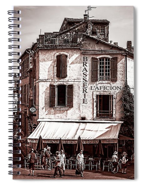 Arles, France, In Sepia Spiral Notebook