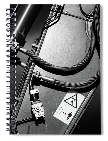 Arm Of Power Industrial Digger Spiral Notebook