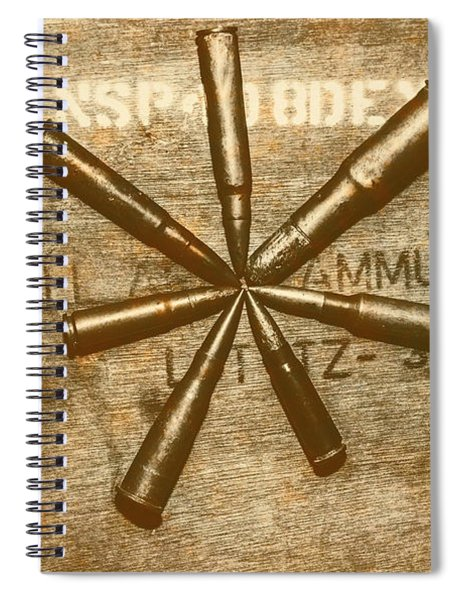 Army Star Bullets Spiral Notebook