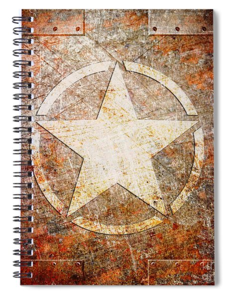 Army Star On Rust Spiral Notebook
