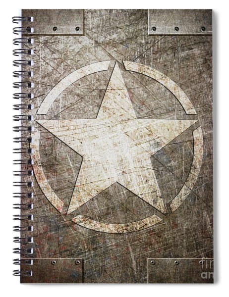 Army Star On Steel Spiral Notebook