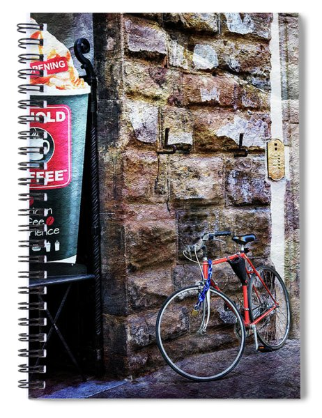 Arnold Coffee Bicycle Spiral Notebook