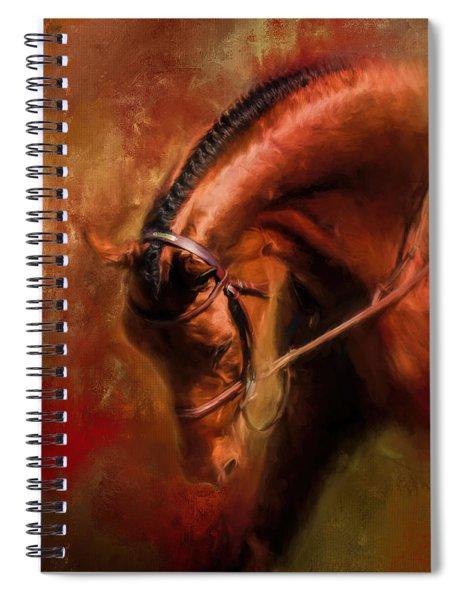 Around The First Turn Equestrian Art Spiral Notebook