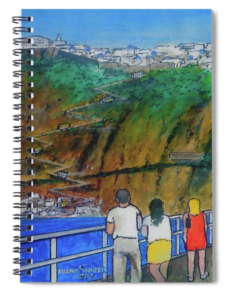 Arriving  At Thira Santorini Greece Spiral Notebook