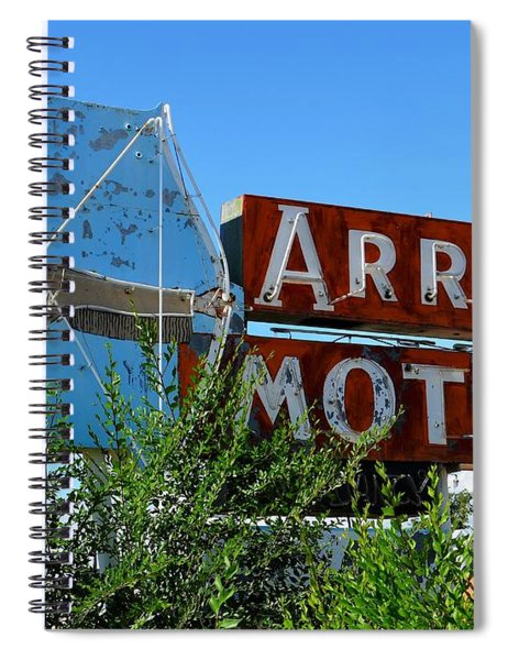 Arrow Motel Spiral Notebook