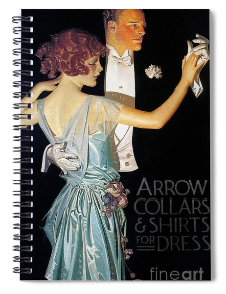 Arrow Shirt Collar Ad, 1923 Spiral Notebook