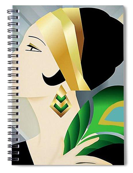 Roaring 20s Flapper Spiral Notebook