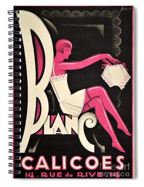 Art Deco Paris Lingerie Ad Spiral Notebook