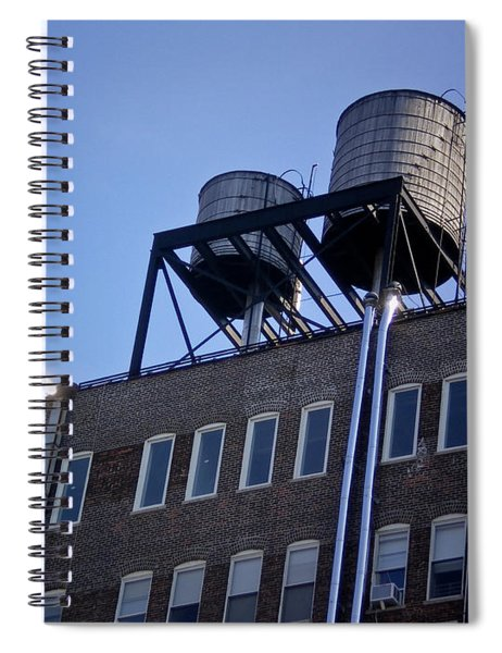 Art District In Nyc Looking Up Spiral Notebook