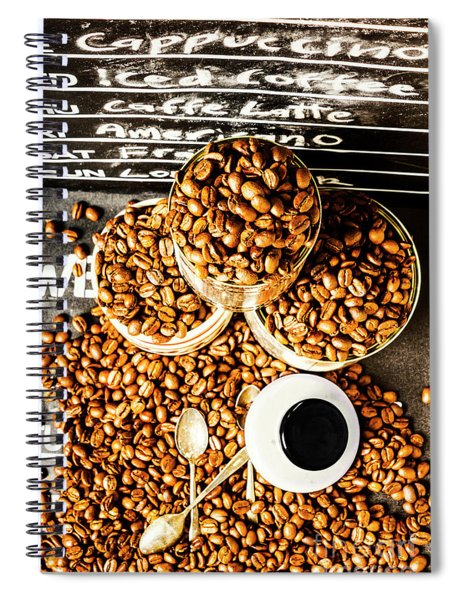 Art In Commercial Coffee Spiral Notebook