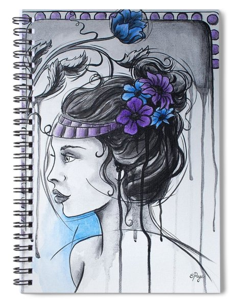 Art Nouveau Girl 1 Spiral Notebook