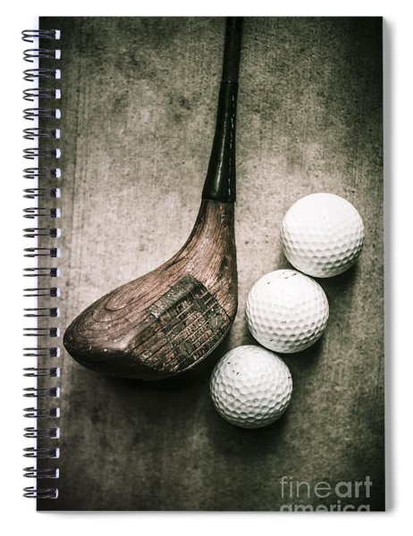 Art Of Golfing Spiral Notebook