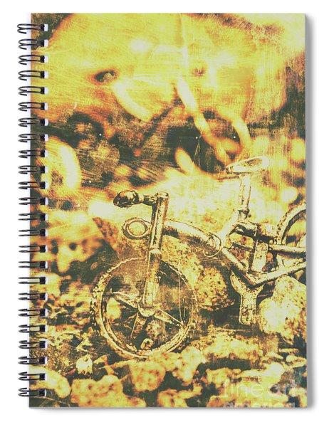 Art Of Mountain Biking Spiral Notebook