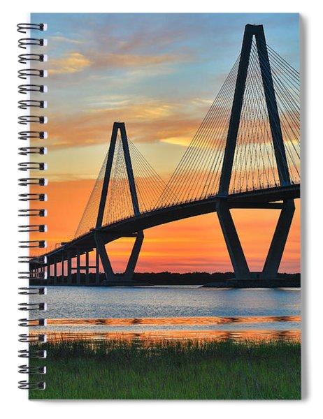 Arthur Ravenel Jr. Bridge At Dusk - Charleston Sc Spiral Notebook