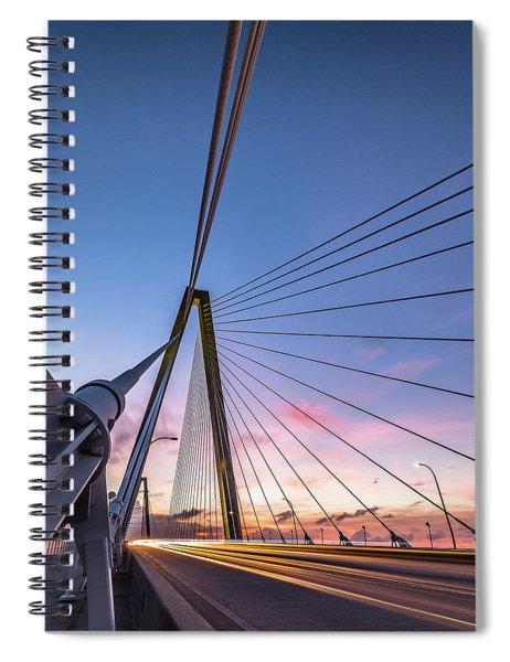 Arthur Ravenel Jr. Bridge Light Trails Spiral Notebook