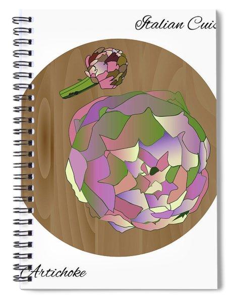 Artichoke Spiral Notebook