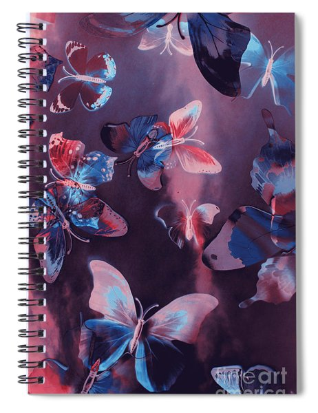 Artistic Colorful Butterfly Design Spiral Notebook