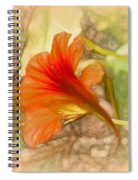 Artistic Red And Orange Spiral Notebook