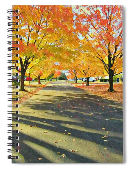 Artistic Tulsa Street Spiral Notebook