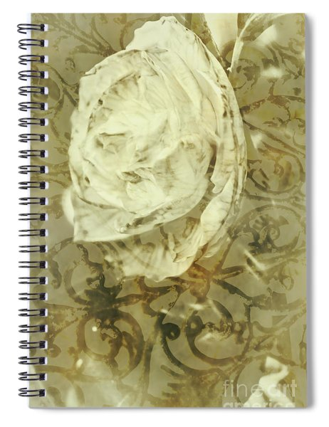 Artistic Vintage Floral Art With Double Overlay Spiral Notebook