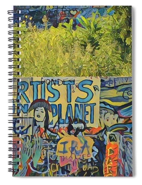 Artists Run The Planet Spiral Notebook