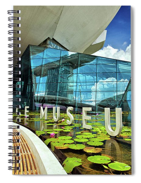Artscience Museum At The Marina Bay Sands Resort In Singapore Spiral Notebook