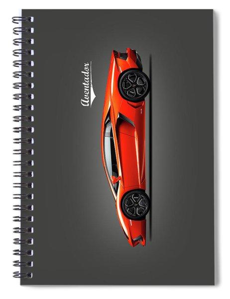 Lamborghini Aventador Spiral Notebook by Mark Rogan