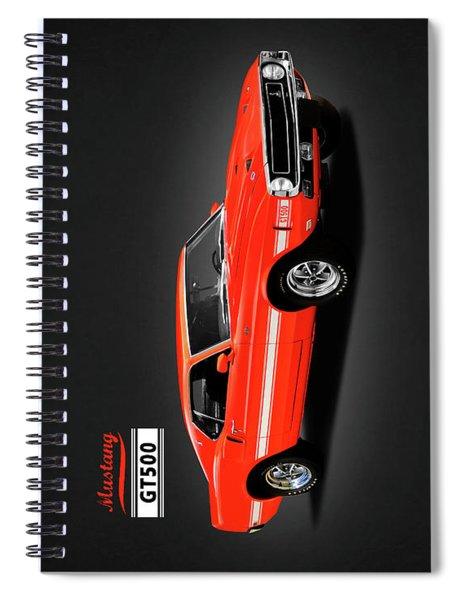 Ford Mustang Shelby Gt500 1969 Spiral Notebook