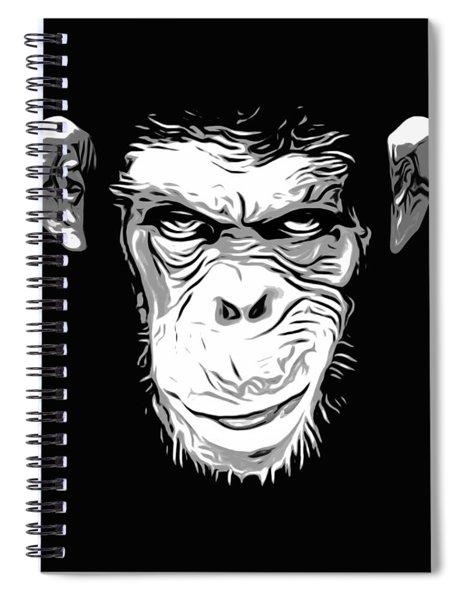 Evil Monkey Spiral Notebook