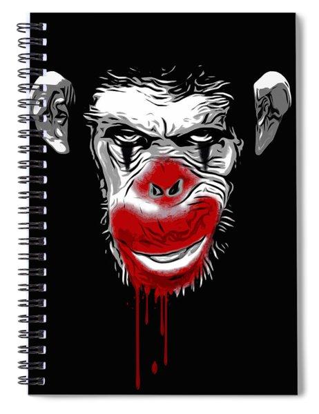 Evil Monkey Clown Spiral Notebook