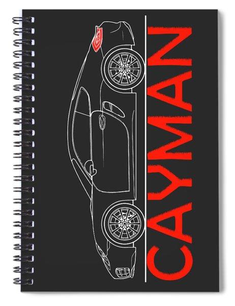 Porsche Cayman Phone Case Spiral Notebook