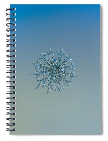 Snowflake Photo - Twelve Months Spiral Notebook