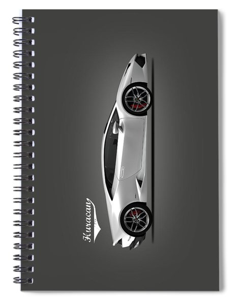 Lamborghini Huracan Spiral Notebook by Mark Rogan
