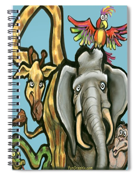 Zoo Animals Spiral Notebook
