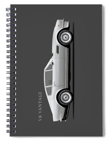 The Aston V8 Vantage Spiral Notebook