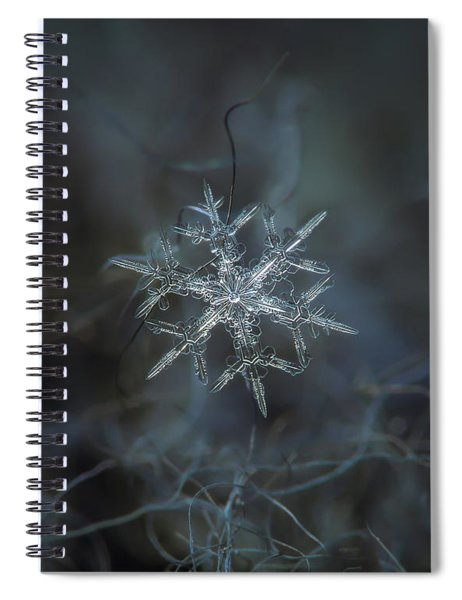 Snowflake Photo - Rigel Spiral Notebook