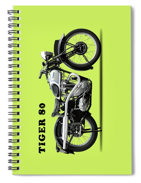 Triumph Tiger 80 1937 Spiral Notebook by Mark Rogan
