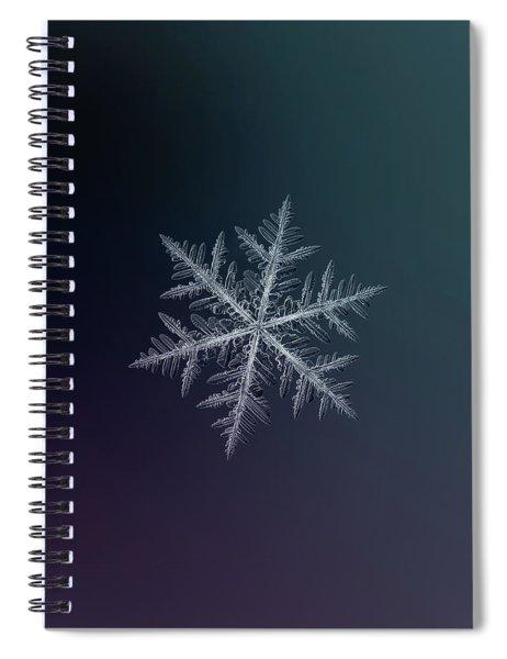 Snowflake Photo - Neon Spiral Notebook
