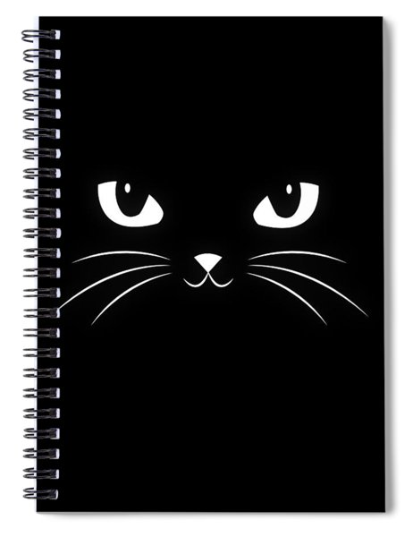 Cute Black Cat Spiral Notebook