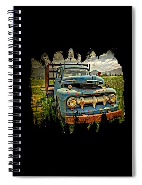 The Blue Classic Ford Truck Spiral Notebook