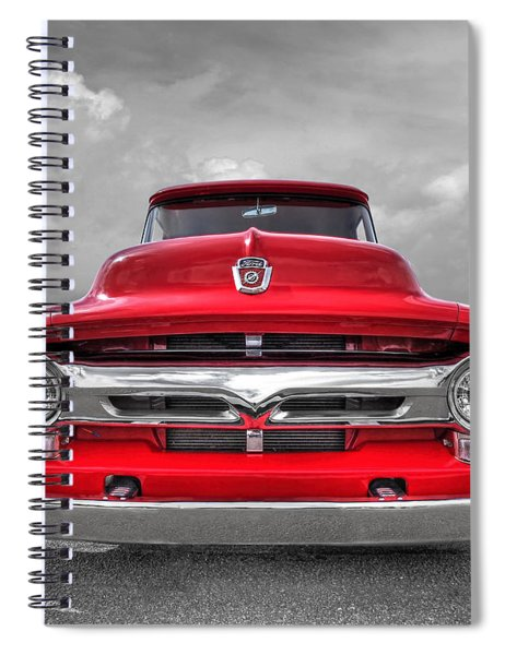Red Ford F-100 Head On Spiral Notebook