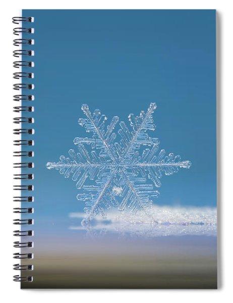 Snowflake Photo - Cloud Number Nine Spiral Notebook