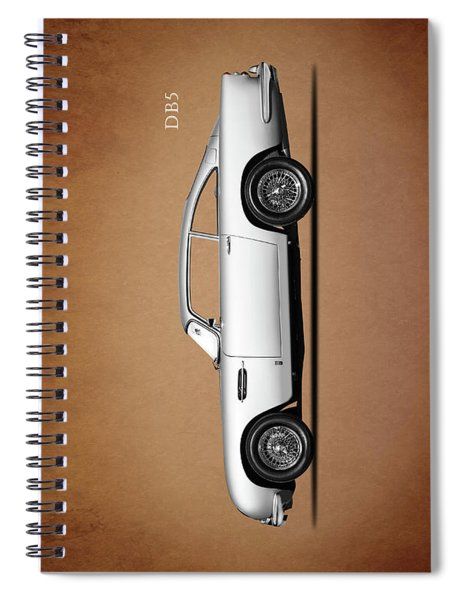 The Aston Martin Db5 Spiral Notebook