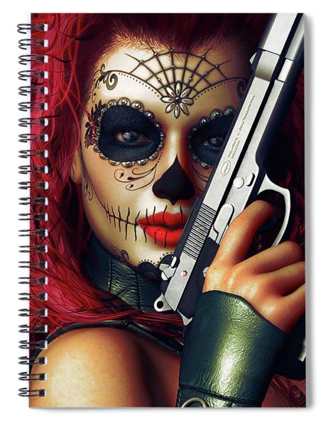 Sugar Doll Long Night Of The Dead Spiral Notebook