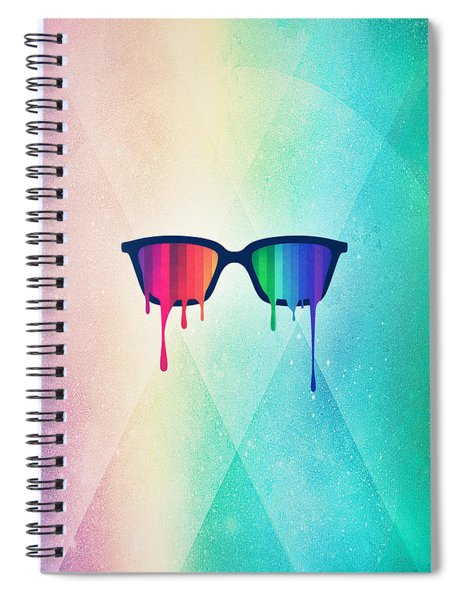 Love Wins Rainbow - Spectrum Pride Hipster Nerd Glasses Spiral Notebook