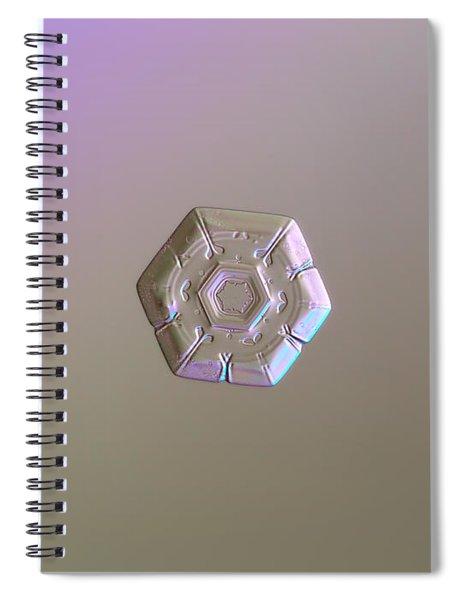 Snowflake Photo - Frozen Hearts Spiral Notebook