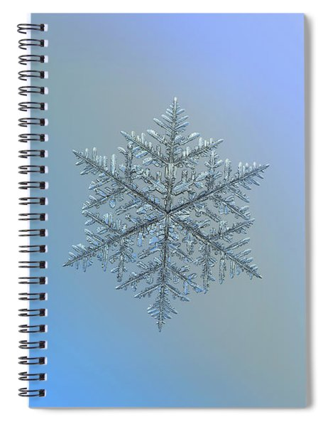 Snowflake Photo - Majestic Crystal Spiral Notebook