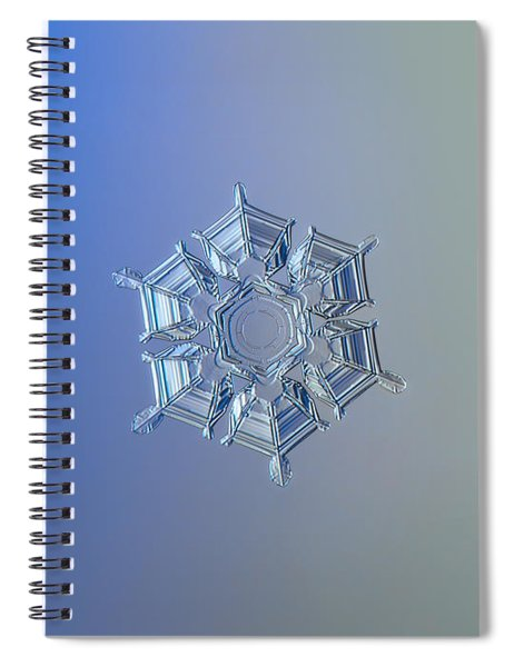 Snowflake Photo - Ice Relief Spiral Notebook