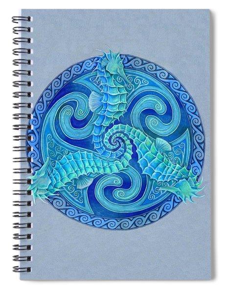 Seahorse Triskele Spiral Notebook