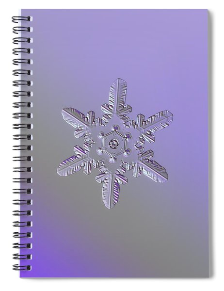 Snowflake Photo - Heart-powered Star Spiral Notebook